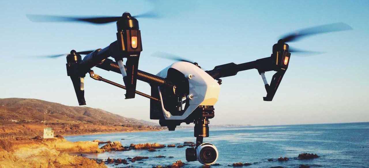 DJI INSPIRE DRONE FLY IN THE BEACH
