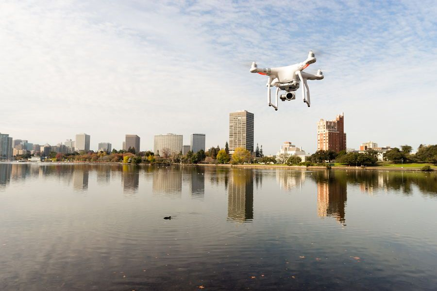 DJI OVER THE RIVER