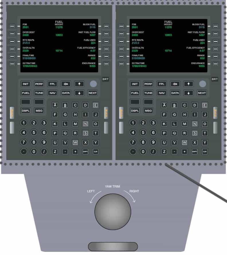 Flight simulator alsim alx lower control panel