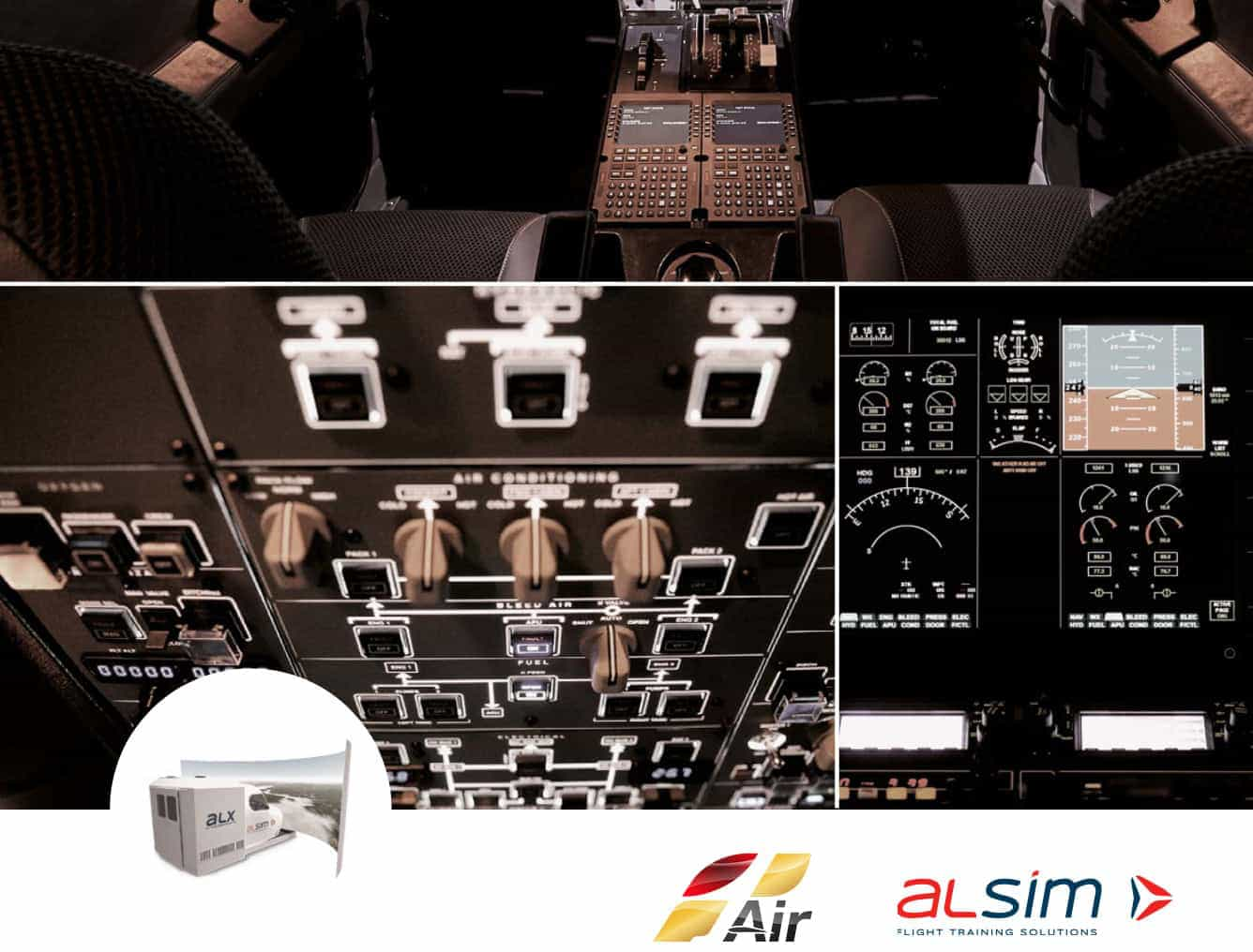 Top panel simulator flight alsim alx cockpit instruments