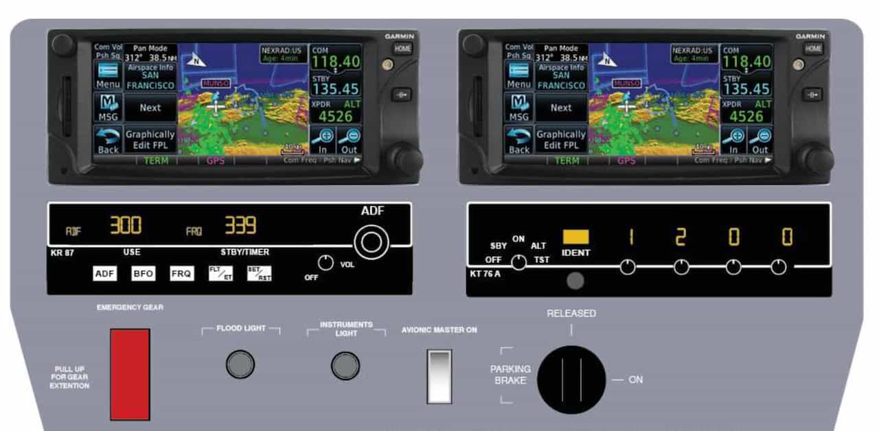 Gps integrated in alsim alx flight simulator