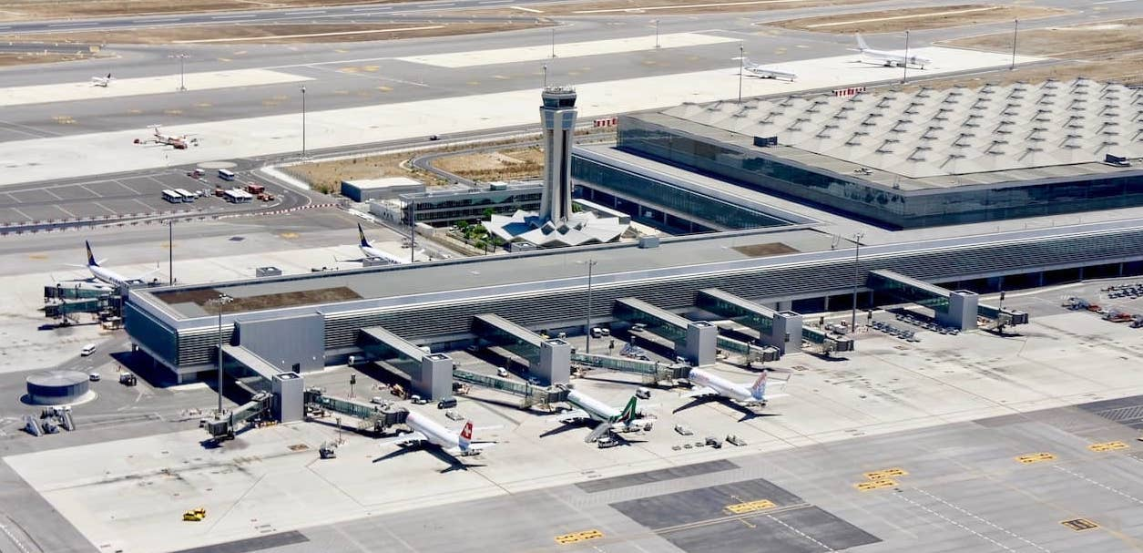 aerial view of Malaga Airoport
