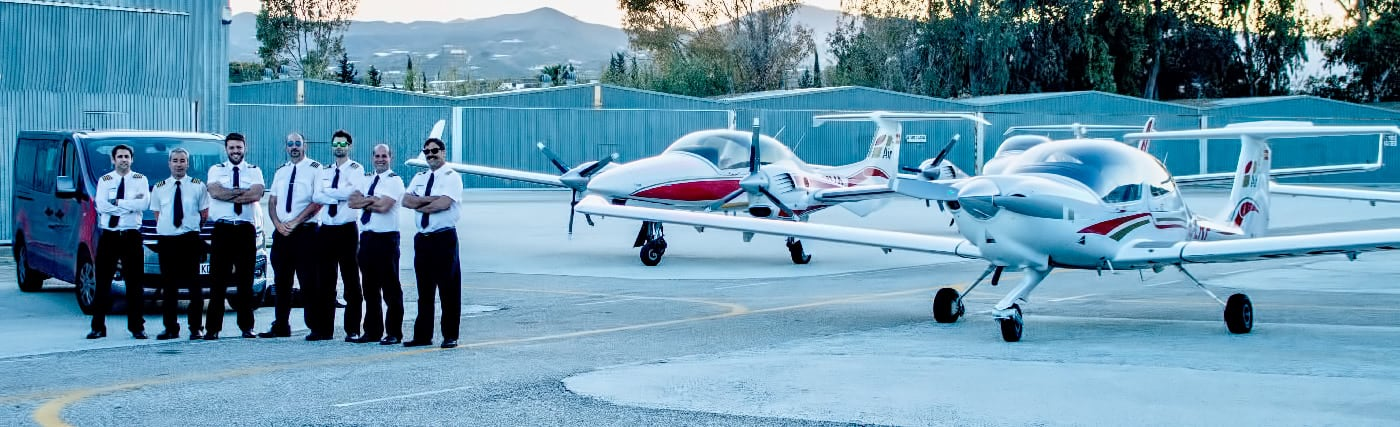 one air crew al velez aerodrome with three aircrafts