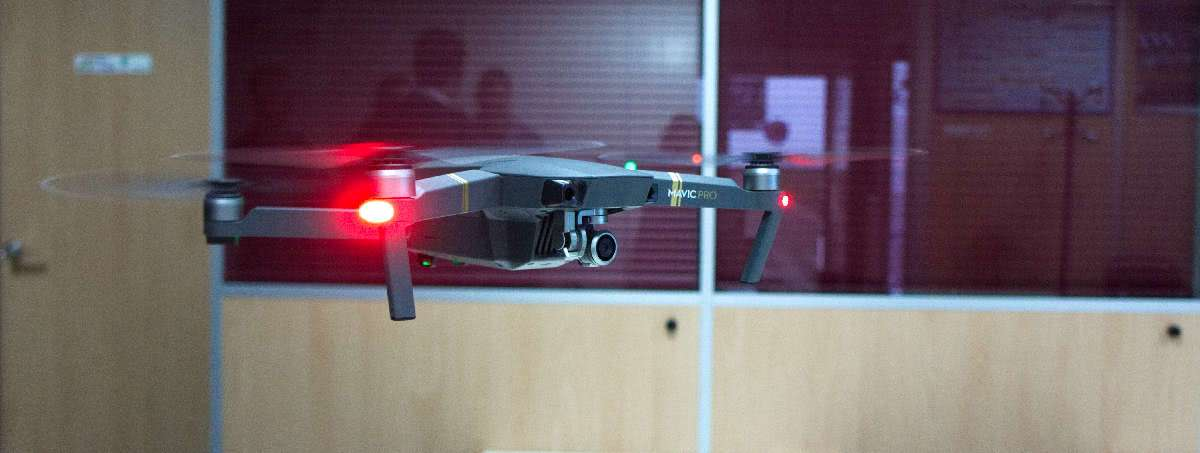 mavic pro dji drone fly in a room