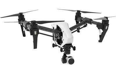 dji inspire drone with white bachground