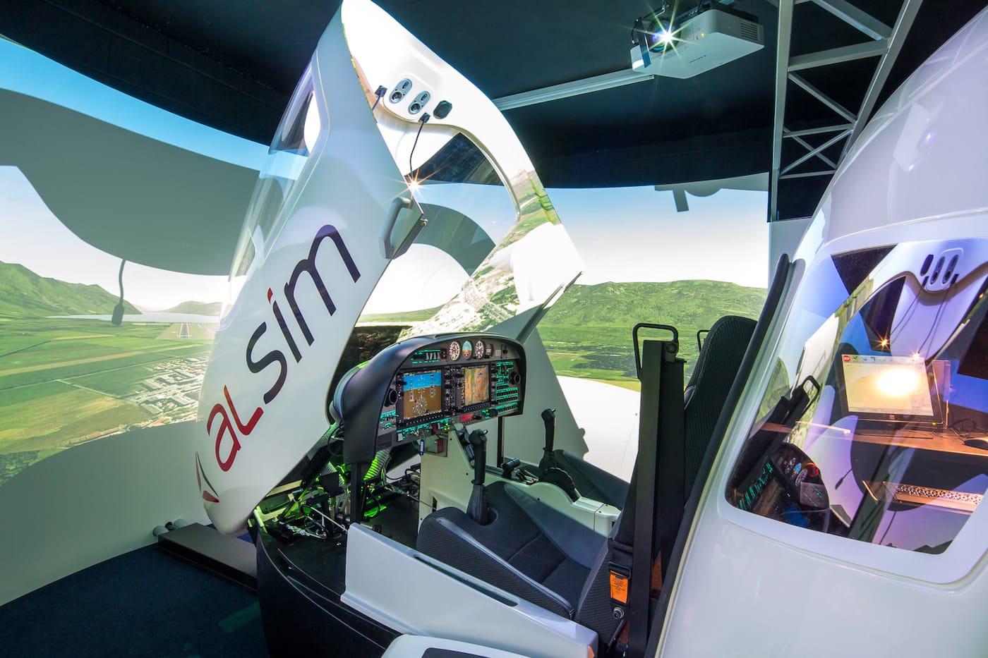 alsim al42 simulators opened glass cockpit