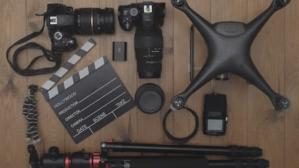 equipment needed for video recording with industrial drones
