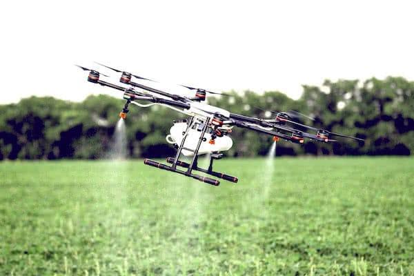 dji agras mg-1 industrial drone in fumigation tasks
