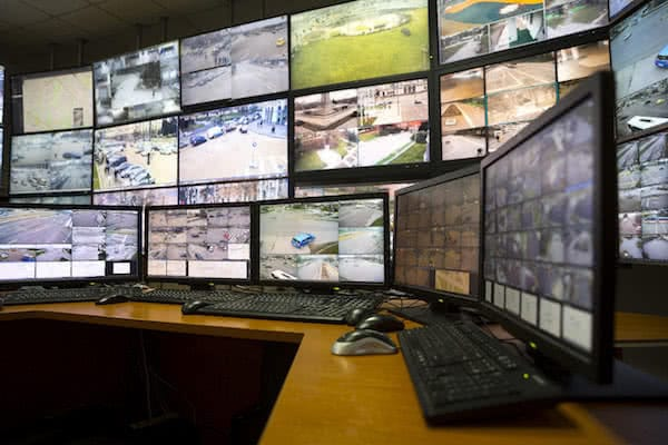 industrial drones traffic control room