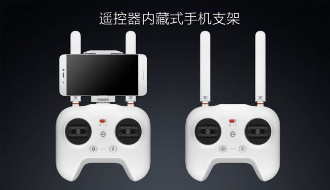 xiaomi mi drone detail of rc controller with smartphones holder