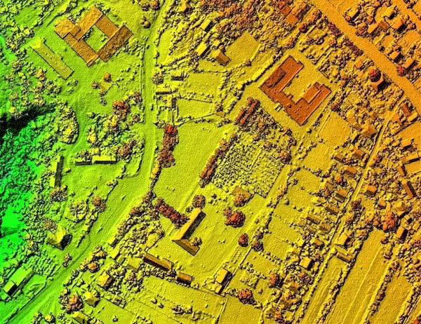 photogrammetric image with industrial drone