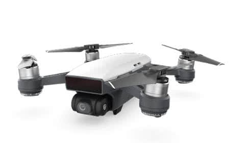 dji spark drone, one of the smallest industrial drone