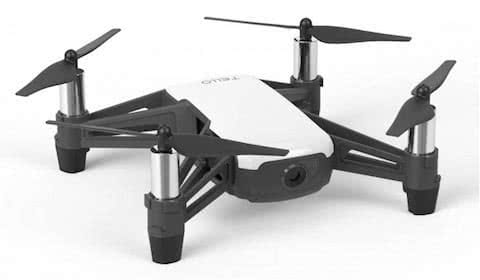 tello drone powered by dji, one of the smallest industrial drone