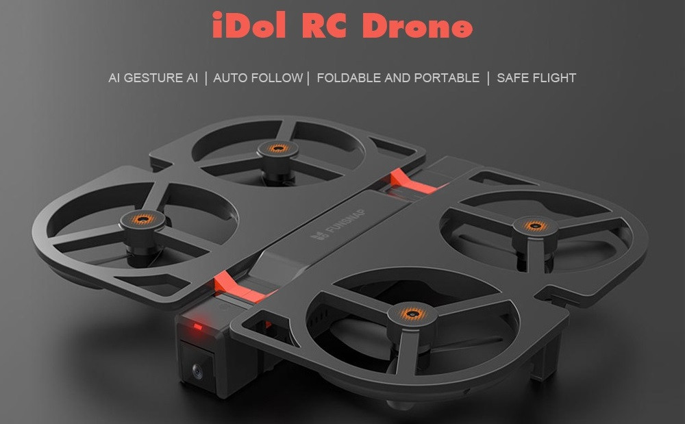xiaomi youpin idol drone in black colour with red details