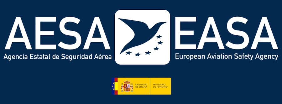 aesa and easa logo with dark blue background