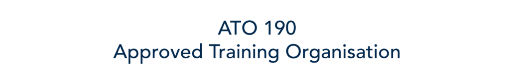 text image, ato 190 approved training organisation