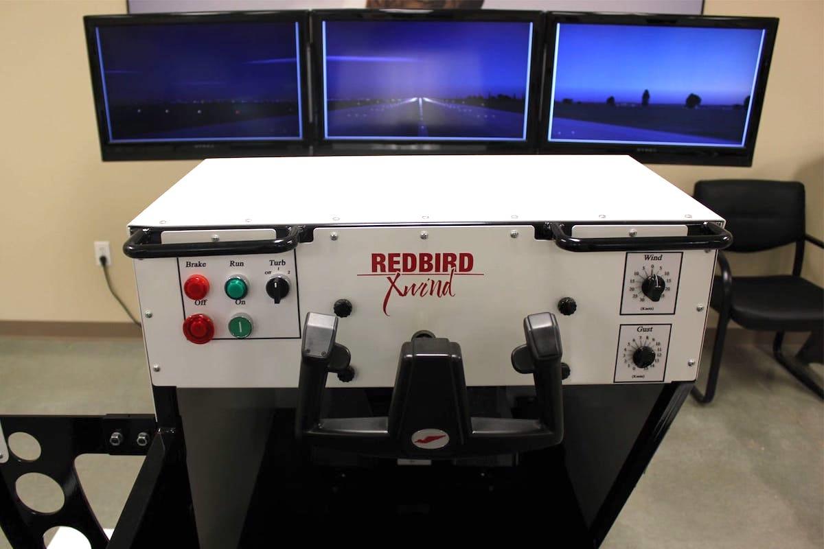 red bird full motion xwind sim inside view