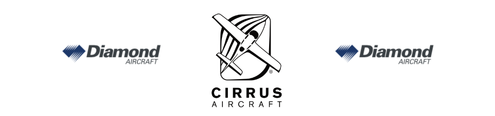 diamond aircraft logo and cirrus aircraft