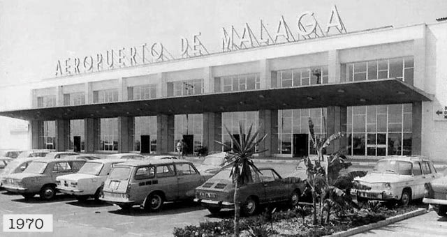 Image of the terminal 1 of the Airport of Malaga in 1970.